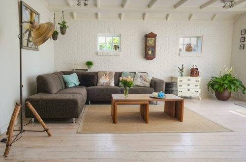 A tidy and uncluttered apartment with a nice airy feel.