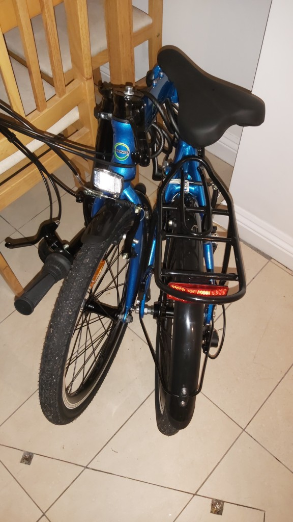 The same bike in its folded state.