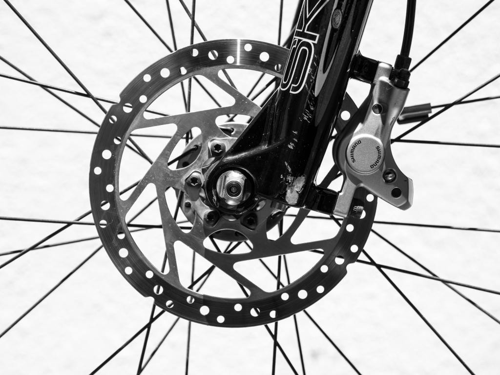 A stock image of a close up of a bike wheal.